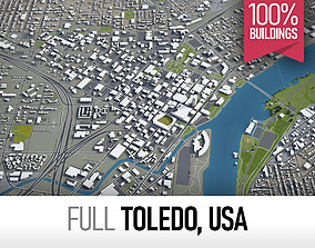3D asset Toledo - city and surroundings