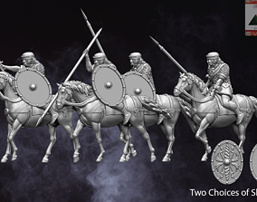 28mm Roman Auxiliary Cavalry 3D printable model