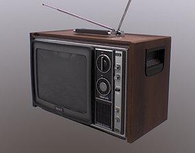 80s Retro Television 3D model