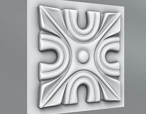Square decoration 3D model classical