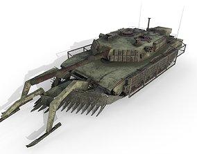 Tank Abrams MinePlow Extra Defense Desert USA 3D model