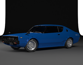 LUXURY CARS COLLECTION - DATSUN 1975 3D model