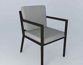Dining chair with arms 3D