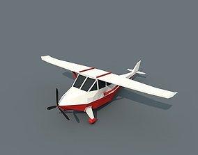 3D model Low Poly Plane