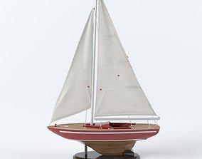 3D model Sailboat decoration