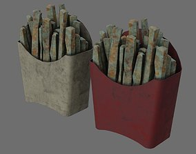 3D asset French Fries 1B