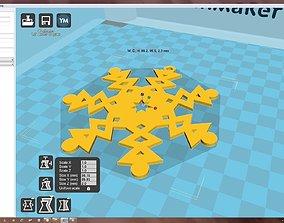 3D print model pas-ko Snowflake