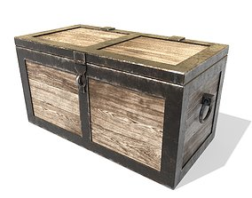 Old chest 3D model game-ready PBR