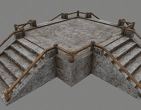 3D model realtime balustrade Stairs