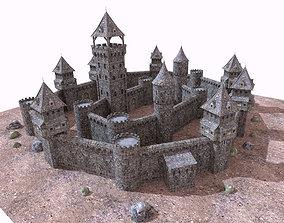 3D asset historic castle