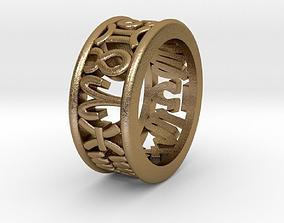 3D printable model 53size Constellation symbol ring