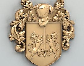 3D model Coat of arms decorative 002