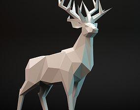 3D model deer lowpoly