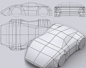 Road rush speedracers 3D asset realtime