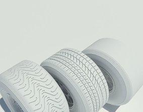 Pirelli f1 tyre set 3D model