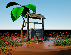 game-ready Well gameready 3D model