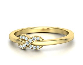 The Diamond Knot Forever Infinity ring 3dmodel