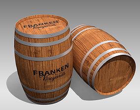 brandy 3D asset game-ready Wooden Barrel