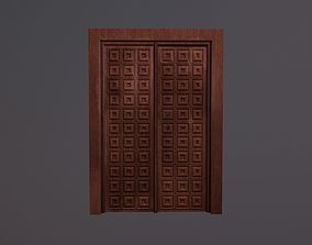 3D model Door with a square pattern