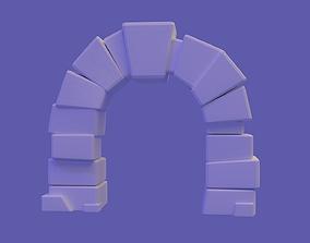 Stone arc lowpoly 3D asset