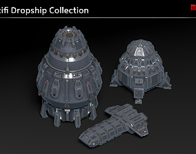 3D Scifi Dropship Collection