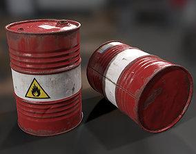 3D asset Oil Drum