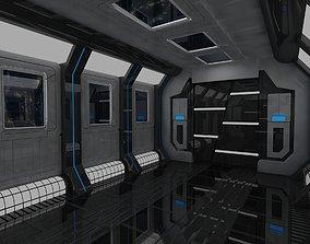3D model Space Capsule Corridor