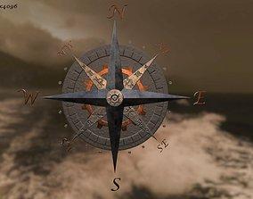 3D model Compass rose