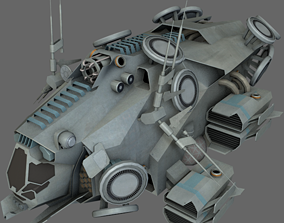 Stealth Recon Ship MS 3D asset