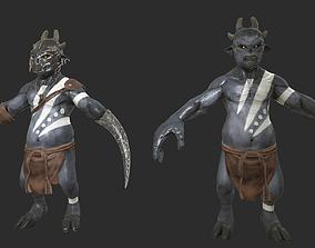 The demon of Soldier 3D asset
