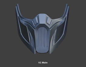 Cyber Sub Zero ninja mask from Mortal 3D printable model 4