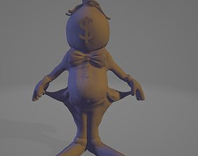empty pocket dollar man 3D model