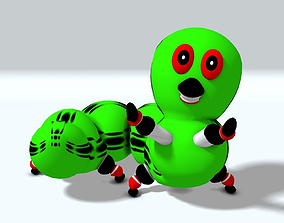 Toon Inch Worm RIGGED 3D model