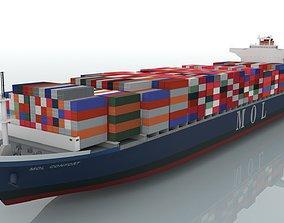 ocean 3D Mol Confort Container Ship