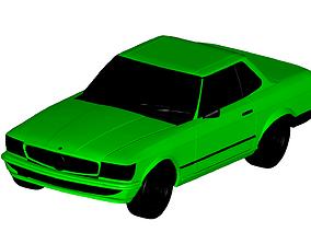 3D Mercedes Benz SL coupe 1972