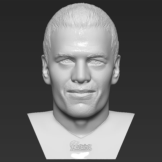 Tom Brady bust for 3D printing