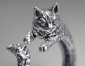 High detailed cat ring 3D print model