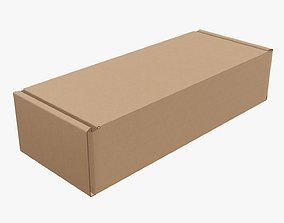 3D Corrugated cardboard box packaging 01