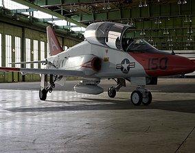 3D model rigged McDonnell Douglas T-45 Goshawk Navy