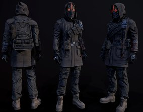3D asset low-poly Post apocalyptic Guy