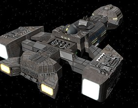 3D model USS Langley Gunship