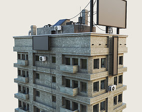 Building Skyscraper City Town 3D model 4