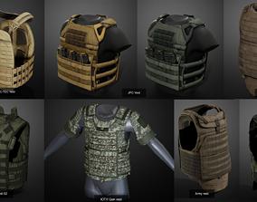 3D model Bulletproof vests pack