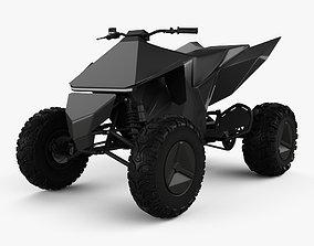 Tesla Cyberquad ATV 2019 buggy 3D