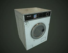 3D asset Old Washing Machine pbr