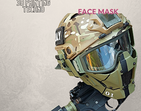 Face Mask STL Files High quality 3D print model Digital