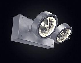 3D model Dual Directional Metal Wall Lamp