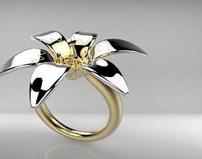 3D print model jewerly flower ring