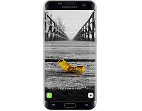 3D Galaxy S7 Black