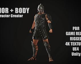3D asset Roman Gladiator Ancient Warrior MAXIMUS for 2